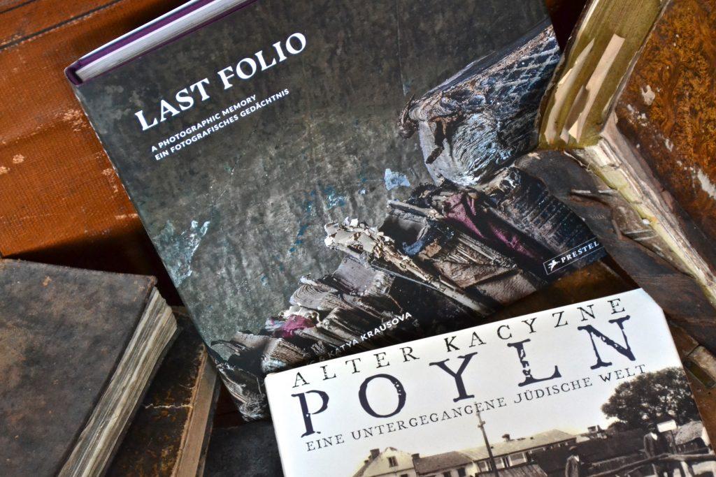Zwei Bücher: Yuri Dojc und Katya Krausova, Last Folio und Alter Kacyzne, Poyln